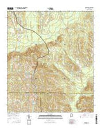 McKenzie Alabama Current topographic map, 1:24000 scale, 7.5 X 7.5 Minute, Year 2014 from Alabama Map Store