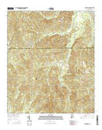 McWilliams Alabama Current topographic map, 1:24000 scale, 7.5 X 7.5 Minute, Year 2014 from Alabama Map Store
