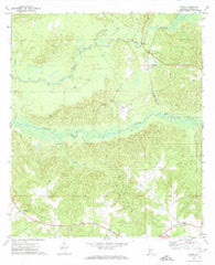 Mexia Alabama Historical topographic map, 1:24000 scale, 7.5 X 7.5 Minute, Year 1972