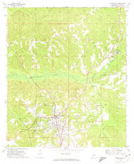Monroeville Alabama Historical topographic map, 1:24000 scale, 7.5 X 7.5 Minute, Year 1972