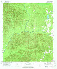Natchez Alabama Historical topographic map, 1:24000 scale, 7.5 X 7.5 Minute, Year 1972