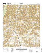 Newville Alabama Current topographic map, 1:24000 scale, 7.5 X 7.5 Minute, Year 2014 from Alabama Map Store