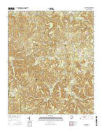 Oak Grove Alabama Current topographic map, 1:24000 scale, 7.5 X 7.5 Minute, Year 2014 from Alabama Map Store