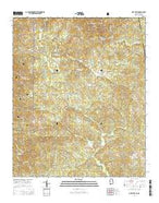 Oak Level Alabama Current topographic map, 1:24000 scale, 7.5 X 7.5 Minute, Year 2014 from Alabama Map Store