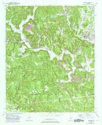 Oakman Alabama Historical topographic map, 1:24000 scale, 7.5 X 7.5 Minute, Year 1949