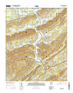 Ohatchee Alabama Current topographic map, 1:24000 scale, 7.5 X 7.5 Minute, Year 2014 from Alabama Map Store