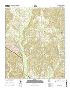 Old Kingston Alabama Current topographic map, 1:24000 scale, 7.5 X 7.5 Minute, Year 2014 from Alabama Map Store