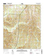 Old Spring Hill Alabama Current topographic map, 1:24000 scale, 7.5 X 7.5 Minute, Year 2014 from Alabama Map Store