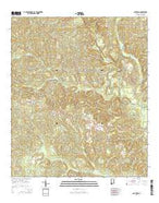 Old Town Alabama Current topographic map, 1:24000 scale, 7.5 X 7.5 Minute, Year 2014 from Alabama Map Store