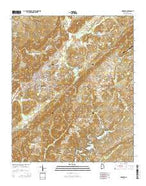 Oneonta Alabama Current topographic map, 1:24000 scale, 7.5 X 7.5 Minute, Year 2014 from Alabama Map Store