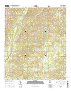 Onycha Alabama Current topographic map, 1:24000 scale, 7.5 X 7.5 Minute, Year 2014 from Alabama Map Store