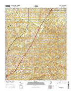 Opelika East Alabama Current topographic map, 1:24000 scale, 7.5 X 7.5 Minute, Year 2014 from Alabama Map Store