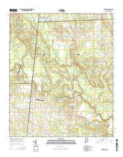 Panola Alabama Current topographic map, 1:24000 scale, 7.5 X 7.5 Minute, Year 2014 from Alabama Maps Store