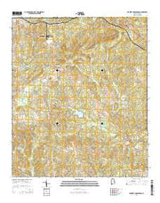 Parkers Crossroads Alabama Current topographic map, 1:24000 scale, 7.5 X 7.5 Minute, Year 2014 from Alabama Maps Store
