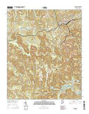 Parrish Alabama Current topographic map, 1:24000 scale, 7.5 X 7.5 Minute, Year 2014 from Alabama Maps Store