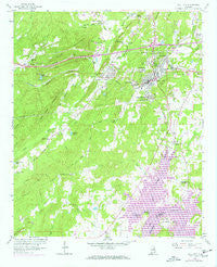 Pell City Alabama Historical topographic map, 1:24000 scale, 7.5 X 7.5 Minute, Year 1958