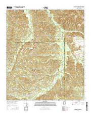 Pine Apple South Alabama Current topographic map, 1:24000 scale, 7.5 X 7.5 Minute, Year 2014 from Alabama Maps Store
