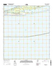 Pine Beach Alabama Current topographic map, 1:24000 scale, 7.5 X 7.5 Minute, Year 2014 from Alabama Maps Store