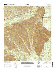 Pine Hill Alabama Current topographic map, 1:24000 scale, 7.5 X 7.5 Minute, Year 2014 from Alabama Maps Store