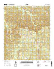Pine Level Alabama Current topographic map, 1:24000 scale, 7.5 X 7.5 Minute, Year 2014 from Alabama Maps Store