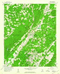 Pinson Alabama Historical topographic map, 1:24000 scale, 7.5 X 7.5 Minute, Year 1959