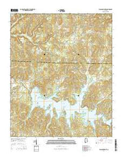 Pleasant Grove Alabama Current topographic map, 1:24000 scale, 7.5 X 7.5 Minute, Year 2014 from Alabama Maps Store