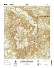 Pleasant Hill Alabama Current topographic map, 1:24000 scale, 7.5 X 7.5 Minute, Year 2014 from Alabama Maps Store