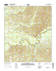 Pleasant Ridge Alabama Current topographic map, 1:24000 scale, 7.5 X 7.5 Minute, Year 2014 from Alabama Maps Store