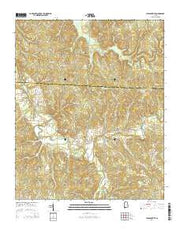 Pleasant Site Alabama Current topographic map, 1:24000 scale, 7.5 X 7.5 Minute, Year 2014 from Alabama Maps Store