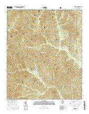 Pondville Alabama Current topographic map, 1:24000 scale, 7.5 X 7.5 Minute, Year 2014 from Alabama Maps Store