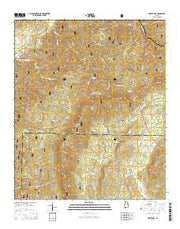 Porter Gap Alabama Current topographic map, 1:24000 scale, 7.5 X 7.5 Minute, Year 2014 from Alabama Maps Store