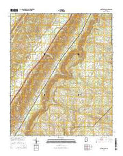 Portersville Alabama Current topographic map, 1:24000 scale, 7.5 X 7.5 Minute, Year 2014 from Alabama Maps Store
