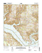 Rogersville Alabama Current topographic map, 1:24000 scale, 7.5 X 7.5 Minute, Year 2014 from Alabama Map Store