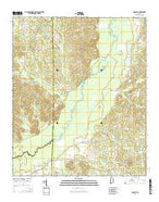 Romulus Alabama Current topographic map, 1:24000 scale, 7.5 X 7.5 Minute, Year 2014 from Alabama Map Store