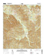 Rosebud Alabama Current topographic map, 1:24000 scale, 7.5 X 7.5 Minute, Year 2014 from Alabama Map Store