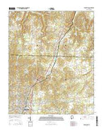 Russellville Alabama Current topographic map, 1:24000 scale, 7.5 X 7.5 Minute, Year 2014 from Alabama Map Store