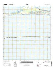 Saint Andrews Bay Alabama Current topographic map, 1:24000 scale, 7.5 X 7.5 Minute, Year 2014 from Alabama Maps Store