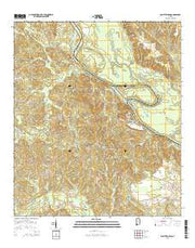 Saint Stephens Alabama Current topographic map, 1:24000 scale, 7.5 X 7.5 Minute, Year 2014 from Alabama Maps Store