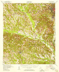 Seale Alabama Historical topographic map, 1:62500 scale, 15 X 15 Minute, Year 1950