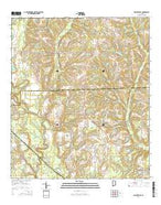 Sellersville Alabama Current topographic map, 1:24000 scale, 7.5 X 7.5 Minute, Year 2014 from Alabama Map Store