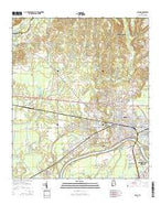 Selma Alabama Current topographic map, 1:24000 scale, 7.5 X 7.5 Minute, Year 2014 from Alabama Map Store