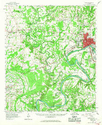 Selma Alabama Historical topographic map, 1:62500 scale, 15 X 15 Minute, Year 1958