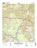 Seminole Alabama Current topographic map, 1:24000 scale, 7.5 X 7.5 Minute, Year 2014 from Alabama Map Store