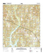Semmes Alabama Current topographic map, 1:24000 scale, 7.5 X 7.5 Minute, Year 2014 from Alabama Map Store
