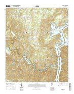 Shelby Alabama Current topographic map, 1:24000 scale, 7.5 X 7.5 Minute, Year 2014 from Alabama Map Store