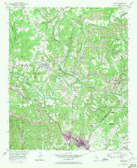 Sipsey Alabama Historical topographic map, 1:24000 scale, 7.5 X 7.5 Minute, Year 1949