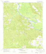 St. Stephens Alabama Historical topographic map, 1:24000 scale, 7.5 X 7.5 Minute, Year 1972