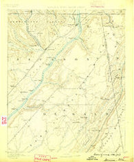 Stevenson Alabama Historical topographic map, 1:125000 scale, 30 X 30 Minute, Year 1886