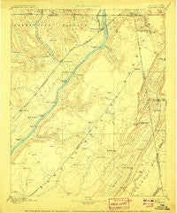 Stevenson Alabama Historical topographic map, 1:125000 scale, 30 X 30 Minute, Year 1895