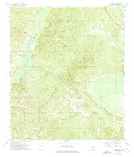 Suggsville Alabama Historical topographic map, 1:24000 scale, 7.5 X 7.5 Minute, Year 1972